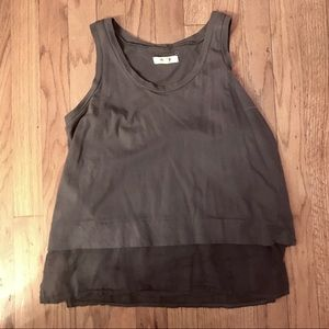 Madewell Cotton Tank with Linen-Like Bottom